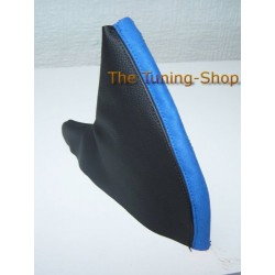 MG MGF MG TF TF HANDBRAKE GAITER BLACK LEATHER & BLUE ALCANTARA