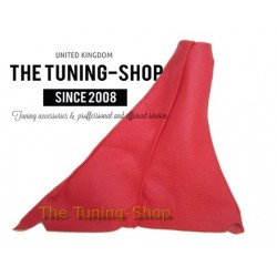 FOR CITROEN DISPATCH JUMPY SYNERGIE EVASION GEAR GAITER RED LEATHER