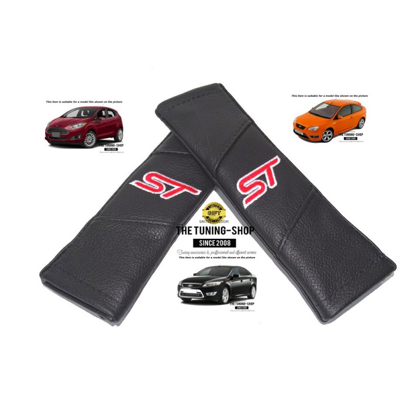Seat Belt Harness Covers Pads Leather Quot St Quot Style