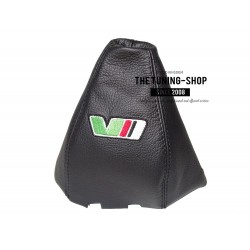 FOR SKODA SUPERB 2002-08 GEAR GAITER BLACK GENUINE LEATHER