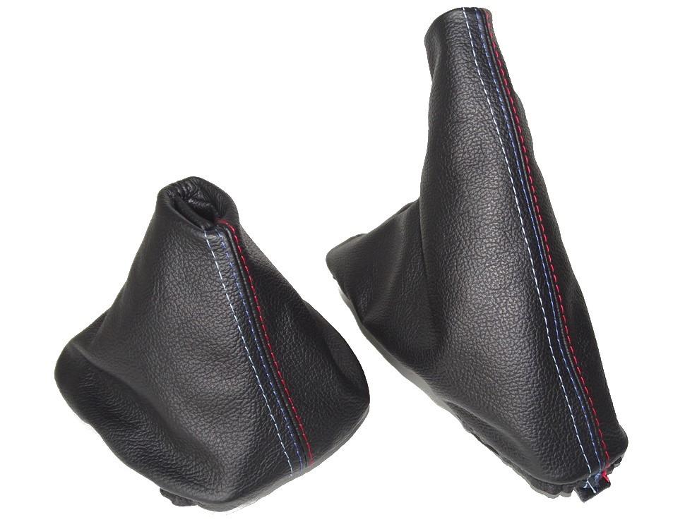 Gear /& Handbrake Gaiter Black Genuine Leather M3 ////// Stitching