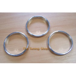 CLASSIC MINI COOPER DIAL SURROUNDS SPEEDO RINGS POLISHED ALUMINIUM to fit the holes 93 mm