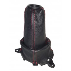 """FOR  HONDA CIVIC FN2 06-12 GEAR GAITER LEATHER with plastic frame and top ring """"Type R"""" Embroidery"""