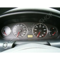 FIAT MAREA CHROME DIAL SURROUNDS SPEEDO RINGS new