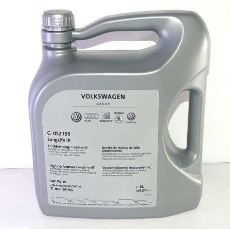 volkswagen longlife iii engine oil sae 5w 30 g 052 195 for. Black Bedroom Furniture Sets. Home Design Ideas