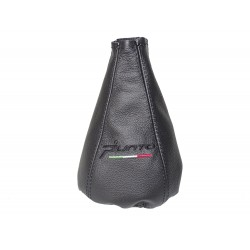 FOR  FIAT GRANDE PUNTO 2005-2012 GEAR GAITER BLACK LEATHER SHIFT BOOT NEW