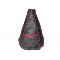 "FOR  FIAT GRANDE PUNTO 2005-2012 GEAR GAITER  LEATHER ""Punto"" Embroidery"
