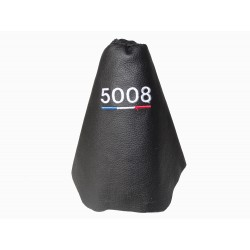 FOR PEUGEOT 3008 5008 2008+ GEAR GAITER BLACK LEATHER