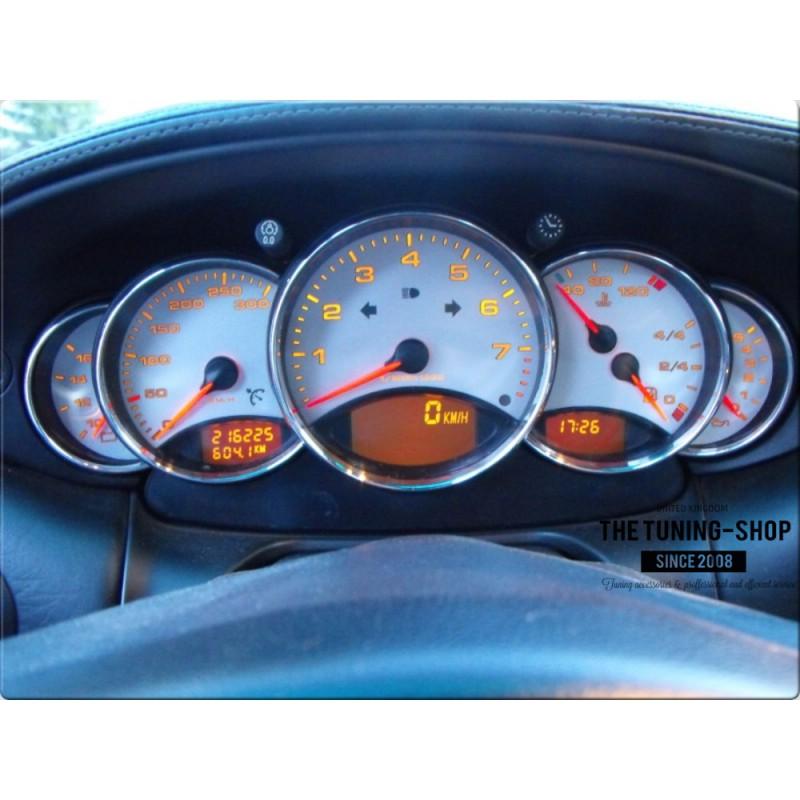 FOR PORSCHE 911 996 SPEEDO GAUGE RINGS SURROUNDS SET OF 5