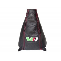 "FOR SKODA SUPERB 3 2015+ GEAR GAITER LEATHER ""VRS"" EMBROIDERY"