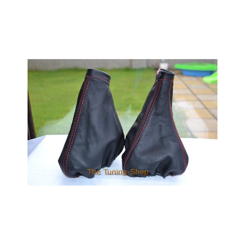 For Mazda 6 2008 2013 Gear Gaiter Shifter Boot Black Leather New: FOR ALFA ROMEO MiTo 2008-2013 GEAR+HANDBRAKE GAITERS BOOTS BLACK LEATHER RED STITCH NEW