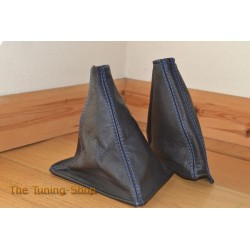 NISSAN SKYLINE R32 GTS GTR GAITERS BOOTS LEATHER BLUE STITCH