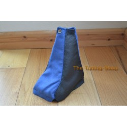 NISSAN X-TRAIL 01-03 6 SPEED GEAR GAITER SHIFT BOOT BLACK LEATHER BLUE SUEDE NEW