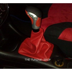 PEUGEOT 206 GEAR GAITER SHIFT BOOT RED LEATHER NEW