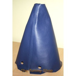 PEUGEOT 306 GEAR GAITER SHIFT BOOT BLUE LEATHER NEW