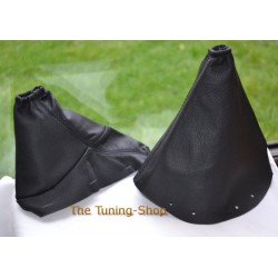 PEUGEOT 407 GEAR HANDBRAKE GAITER BLACK LEATHER NEW