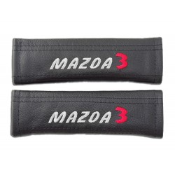 "2 X SEAT BELT HARNESS COVERS PADS LEATHER ""ASTRA GTC"" EMBROIDERY FOR OPEL VAUXHALL"