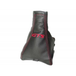 "FOR VAUXHALL OPEL VECTRA C 02-08 GEAR GAITER LEATHER ""GTS"" RED EMBROIDERY"