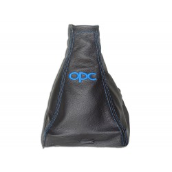"FOR VAUXHALL OPEL VECTRA C 02-08 GEAR GAITER WITH PLASTIC FRAME LEATHER ""opc"" RED EMBROIDERY"
