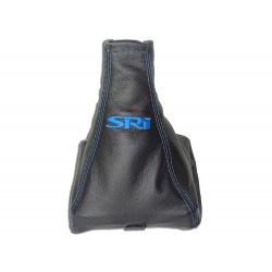 "FOR VAUXHALL OPEL VECTRA C 02-08 GEAR GAITER WITH PLASTIC FRAME LEATHER ""SRI"" BLACK EMBROIDERY"