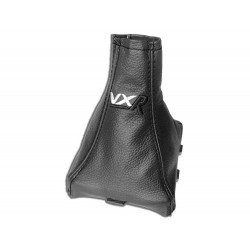 "FOR VAUXHALL OPEL VECTRA C 02-08 GEAR GAITER WITH PLASTIC FRAME LEATHER ""VRX"" WHITE EMBROIDERY"