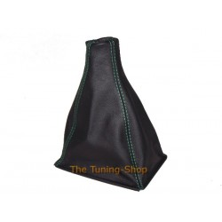 ROVER 200 or 25 96-02 GEAR GAITER BLACK LEATHER+GREEN STITCHING