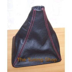 ROVER 200 or 25 96-02 GEAR GAITER BLACK LEATHER+RED STITCHING