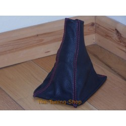 ROVER 600 93-99 GEAR GAITER BLACK LEATHER RED STITCHING