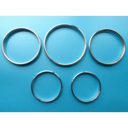 FOR PORSCHE 911 SC 930 G-model 1964-1989 DIAL GAUGE RINGS SET OF 5 MATT