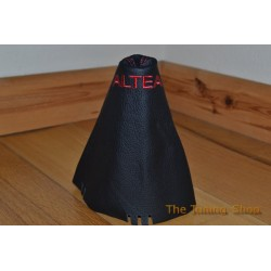SEAT ALTEA GEAR GAITER SHIFT BOOT BLACK LEATHER EMBROIDERED