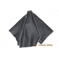 NISSAN SKYLINE R34 1998-2002 BLACK GENUINE LEATHER GEAR GAITER BOOT WHITE STITCH NEW