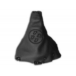 """FOR TOYOTA GT 86 2012-2016 GEAR GAITER WITH BOTTOM PLASTIC FRAME """"86"""" GREY EMBROIDERY"""