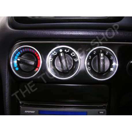 For Ford Mondeo Alloy Heater Lights Switch Surrounds Rings To Fit The Holes Mm New on 2000 Volvo S70 Warning Lights