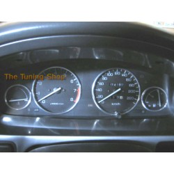 ROVER 400 HONDA CIVIC 5D 95-00 CHROME DIAL SURROUNDS SPEEDO RINGS new