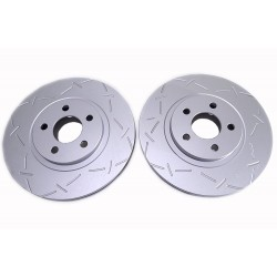Front Discs Brake Rotors 53000A Left + Right Diameter 280mm Slotted & Drilled for Chrysler Pt Cruiser