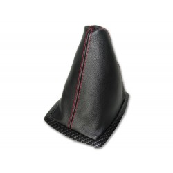 FOR FORD MUSTANG 1987-1993 GEAR GAITER LEATHER STITCHING RED