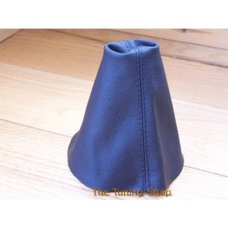 SKODA FABIA MK2 07+ BLACK LEATHER GEAR GAITER