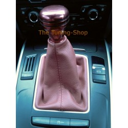 FOR AUDI A5 2007-2015 GEAR GAITER SHIFT BOOT DARK RED LEATHER NEW