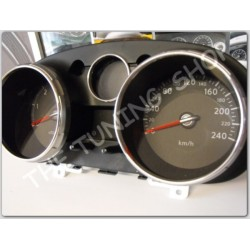 NISSAN QASHQAI CHROME DIAL GAUGE RINGS SURROUNDS POLISHED ALLOY NEW