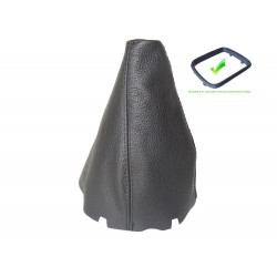 FOR MERCEDES W169 2004-2012 GEAR GAITER BLACK GENUINE LEATHER