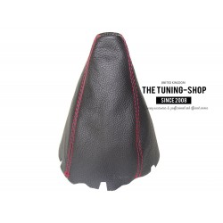 FOR MERCEDES B-CLASS W245 2005-2011 GEAR GAITER LEATHER RED STITCHING