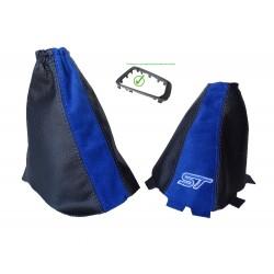 For Ford Focus MK3 2015-2018 Gear & Handbrake Gaiter Plastic Bottom Frame Leather & Suede Embroidery