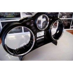 PEUGEOT 207 CHROME DIAL GAUGE RINGS SPEEDO CLOCKS SURROUNDS POLISHED ALLOY new