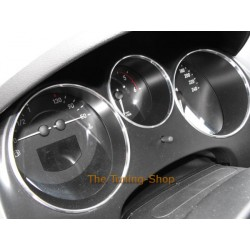 FOR SEAT TOLEDO ALTEA 2004-2010 CHROME DASHBOARD SURROUNDS RINGS SET NEW