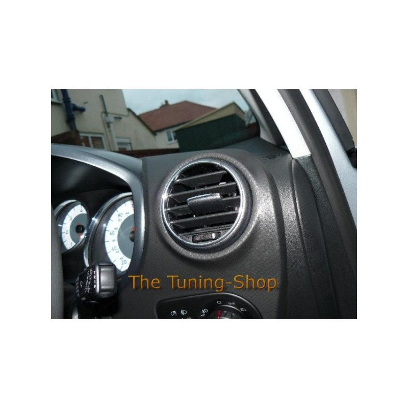 for seat leon mk2 2005 2011 chrome air vents surrounds. Black Bedroom Furniture Sets. Home Design Ideas