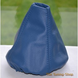 BMW E34 88-95 GEAR GAITER SHIFT BOOT BLUE GENUINE LEATHER