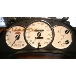 TOYOTA CELICA MK6 1994-1999 CHROME GAUGE TRIM RINGS DIAL SURROUNDS SET NEW