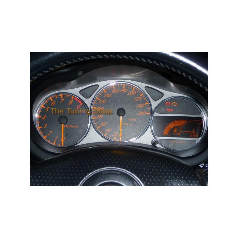 1999 Celica: FOR TOYOTA CELICA MK7 99-06 CHROME DIAL RINGS GAUGE TRIM