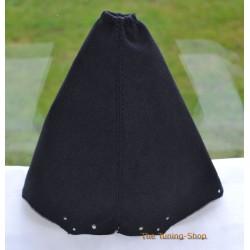 NISSAN QASHQAI 2006+ GEAR GAITER BLACK ALCANTARA SUEDE BLACK