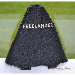 LAND ROVER FREELANDER 2003-2005 AUTO GEAR GAITER BLACK LEATHER CREAM STITCHING EMBROIDERY